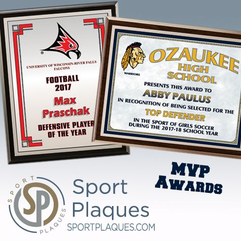 recognition and mvp awards and plaques for sports and academics