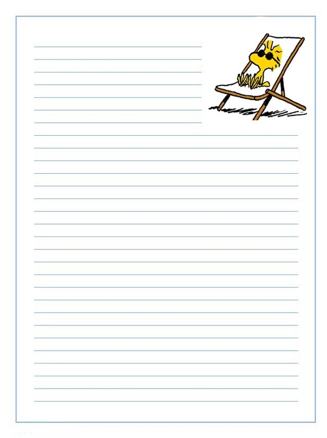 Imprimir gratis papel de cartas infantil para niños de personajes de ...