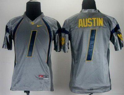 various colors 61a3d 43b30 ncaa jerseys west virginia mountaineers 1 tavon austin grey ...