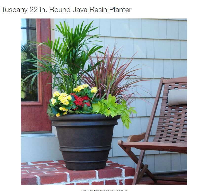 Planter Recipe For Front Porch Pot From Home Depot Resin Planters Planters Lightweight Planter