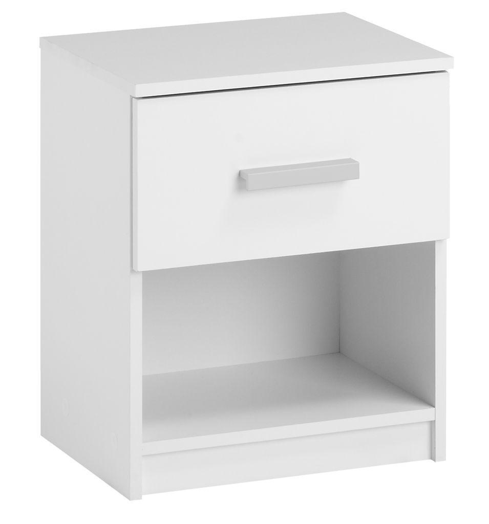 Yöpöytä DURANGO 1 laatikko valkoinen   JYSK