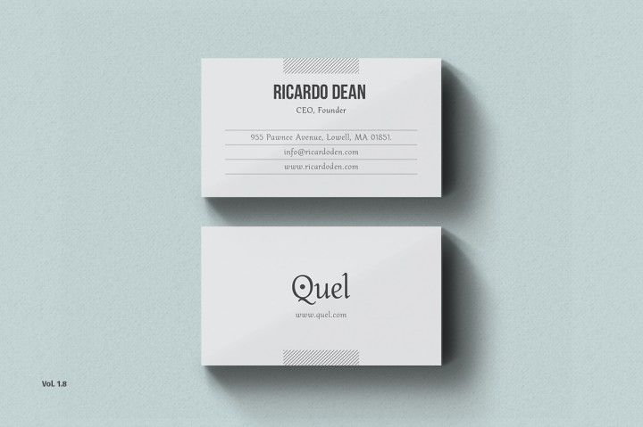 Clean Business Card Template Ideal for personal identity. This super ...