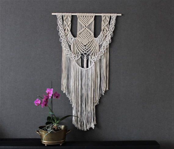 macrame wall hanging giant bohemian macrame wall. Black Bedroom Furniture Sets. Home Design Ideas
