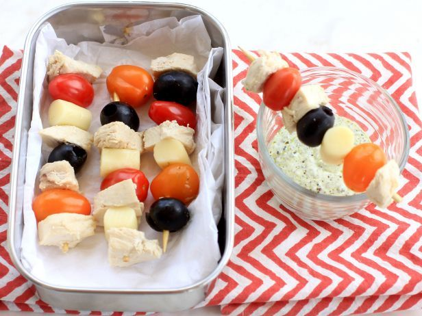 lunch on a stick 2 ways chicken kebabs and tropical fruit kebabs food network recipes food fruit kebabs pinterest