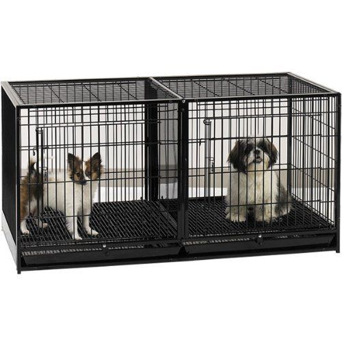 Proselect Steel Modular Cage With Plastic Tray Black By Proselect
