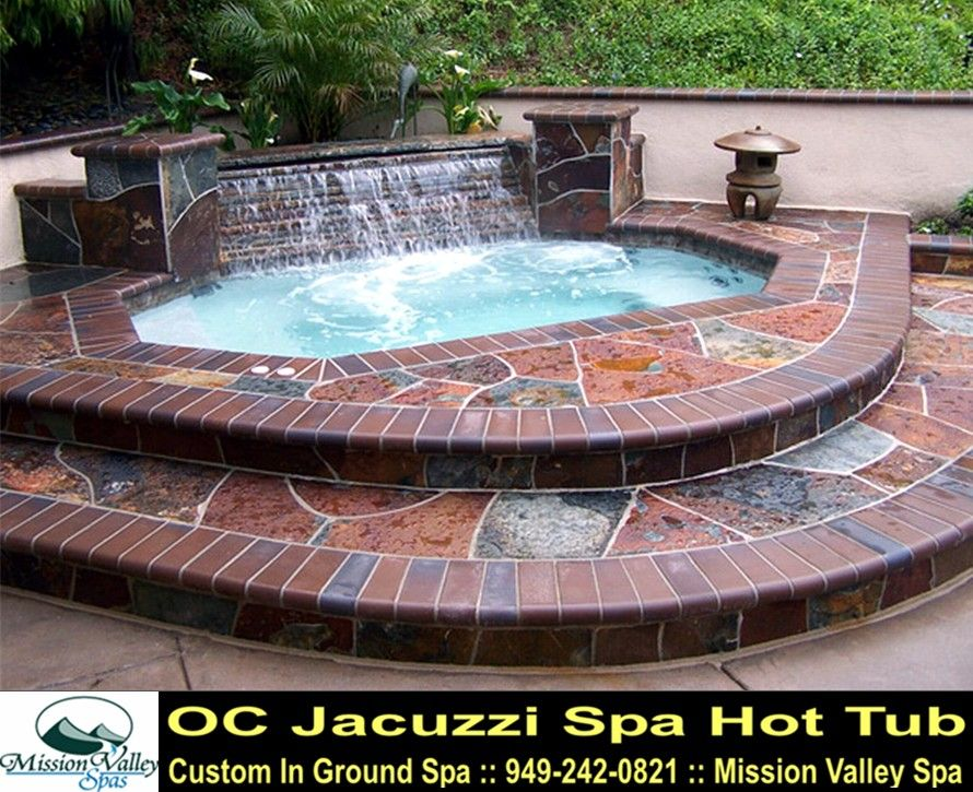 Backyard Design For Inground Hot Tub Spa   OC Jacuzzi Spa Hot Tubs From  Mission Valley