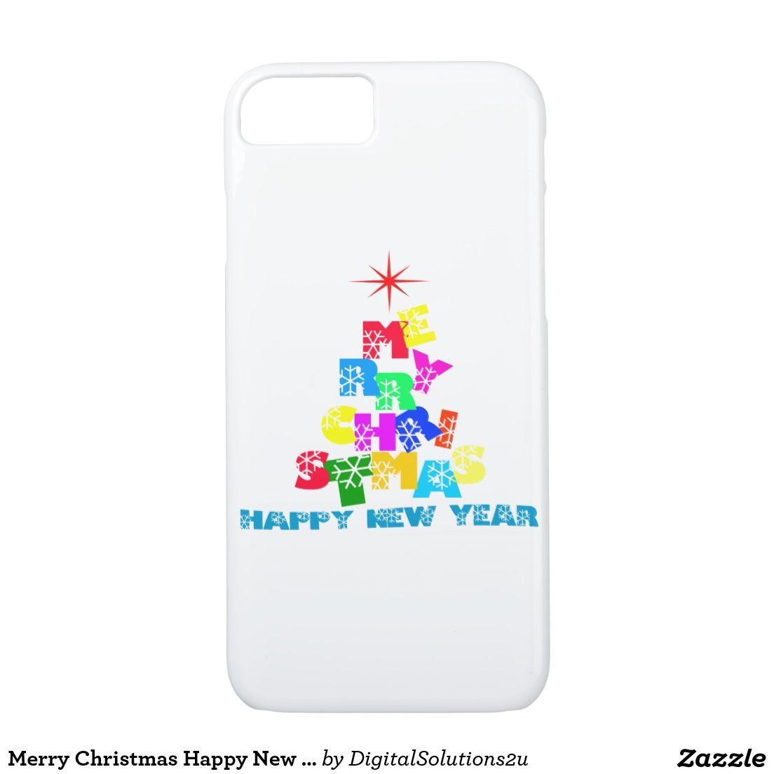 Merry Christmas Happy New Year iPhone 7 Case   Electronics   Pinterest