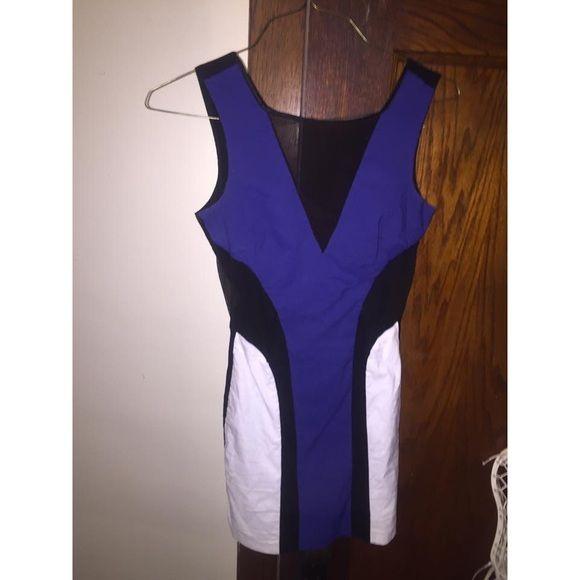 blue date party dress tight dress Dresses Mini
