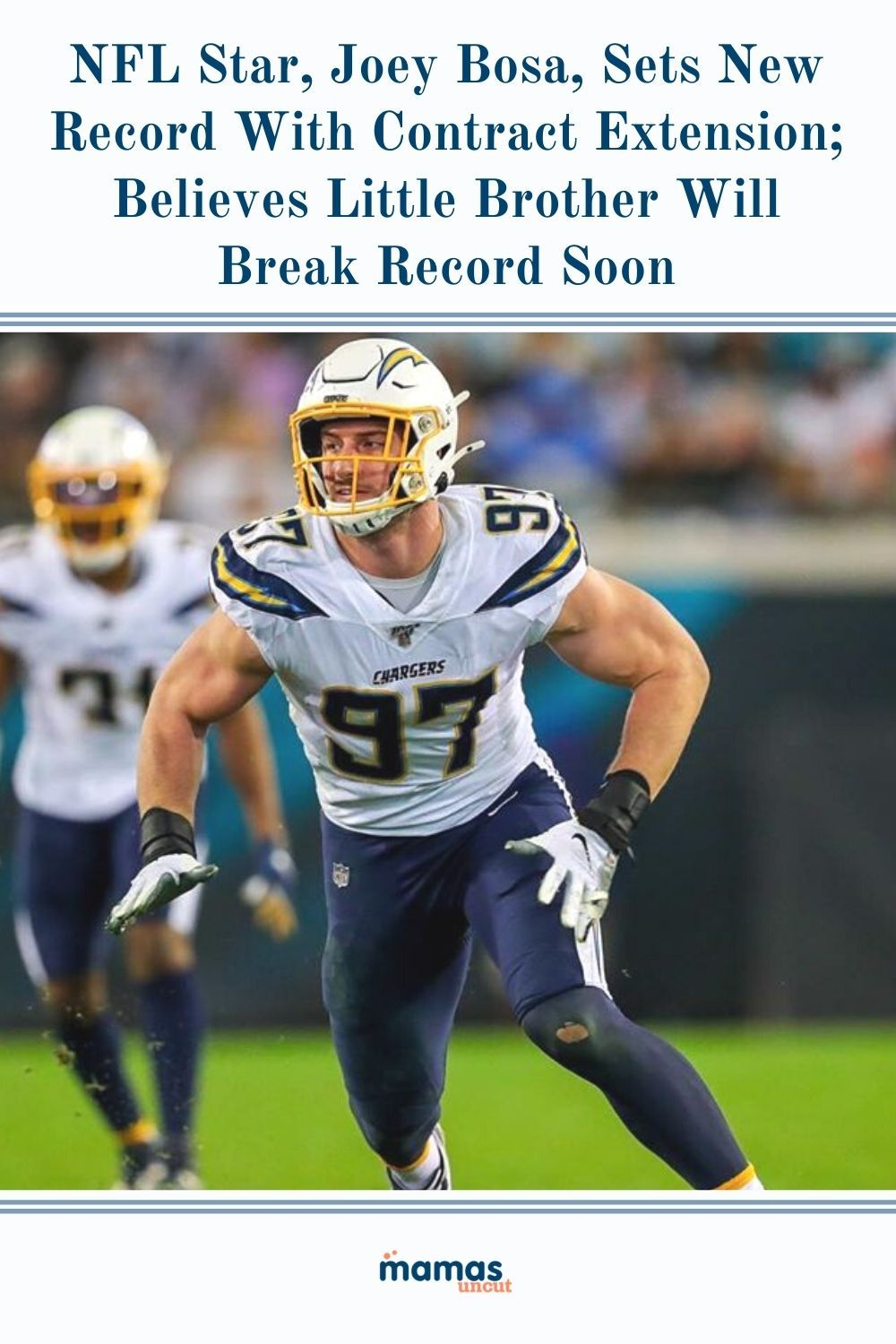 Nfl Star Joey Bosa Sets New Record With Contract Extension Believes Little Brother Will Break Record Soon In 2020 Nfl Melvin Ingram Records