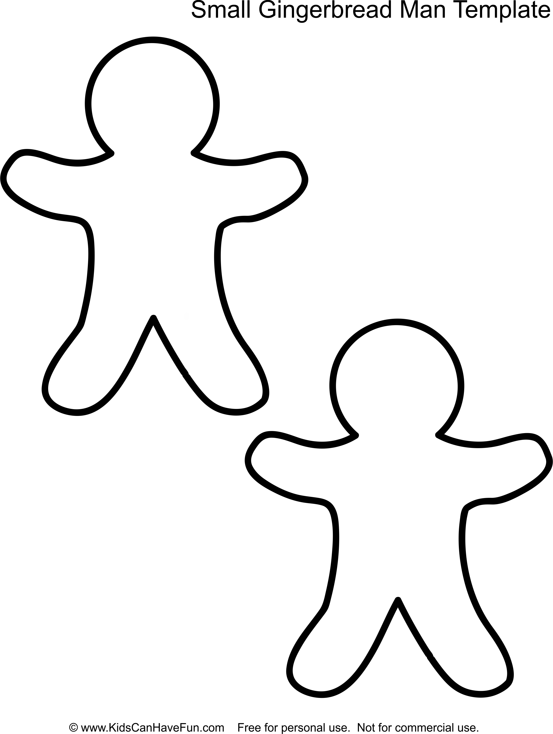 Small gingerbread man template http//www.kidscanhavefun