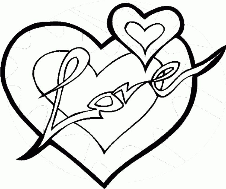 love and heart coloring page to print outadult coloring book pagesmore pins - Heart Coloring Pages For Teenagers