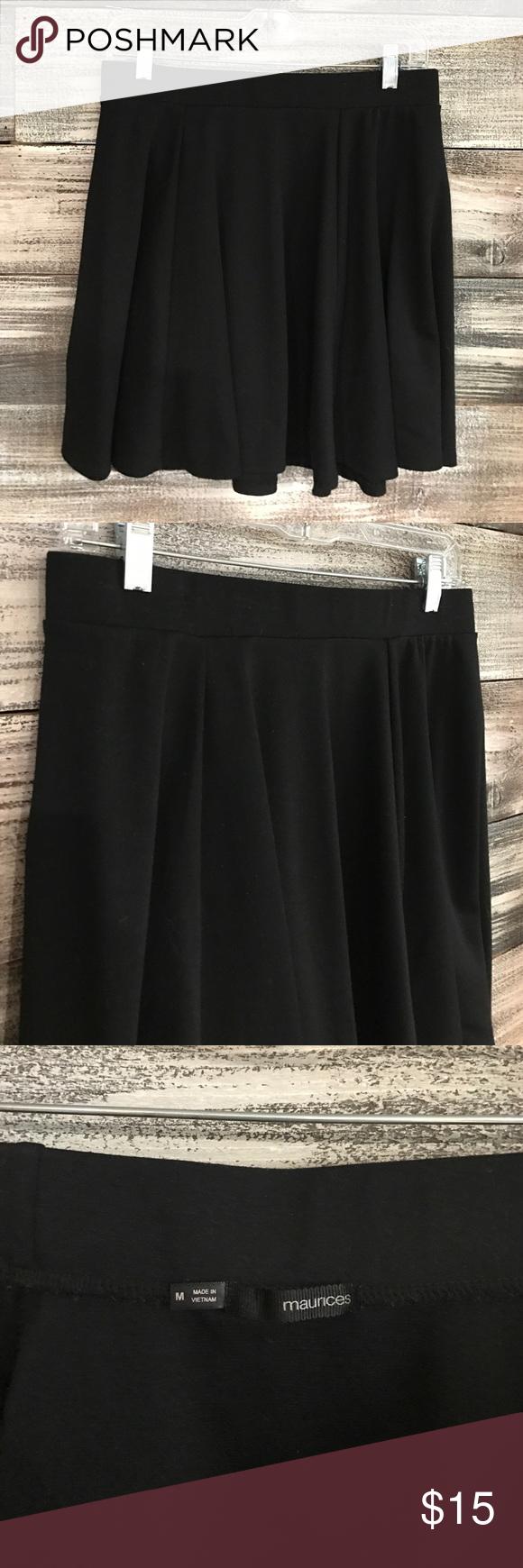 Maurices Black Skater Skirt Black soft stretchy skater skirt. Maurices Skirts Circle & Skater