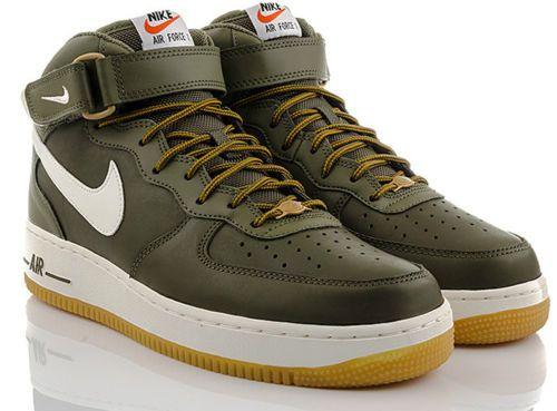 Details zu Neu Schuhe NIKE AIR FORCE 1 MID High Top Exclusive Herren Sneaker Leder Schwarz