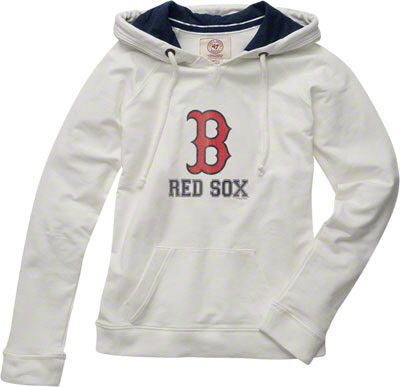 wholesale dealer ed12b 67ba4 Boston Red Sox Women's White '47 Brand On Deck Hooded ...