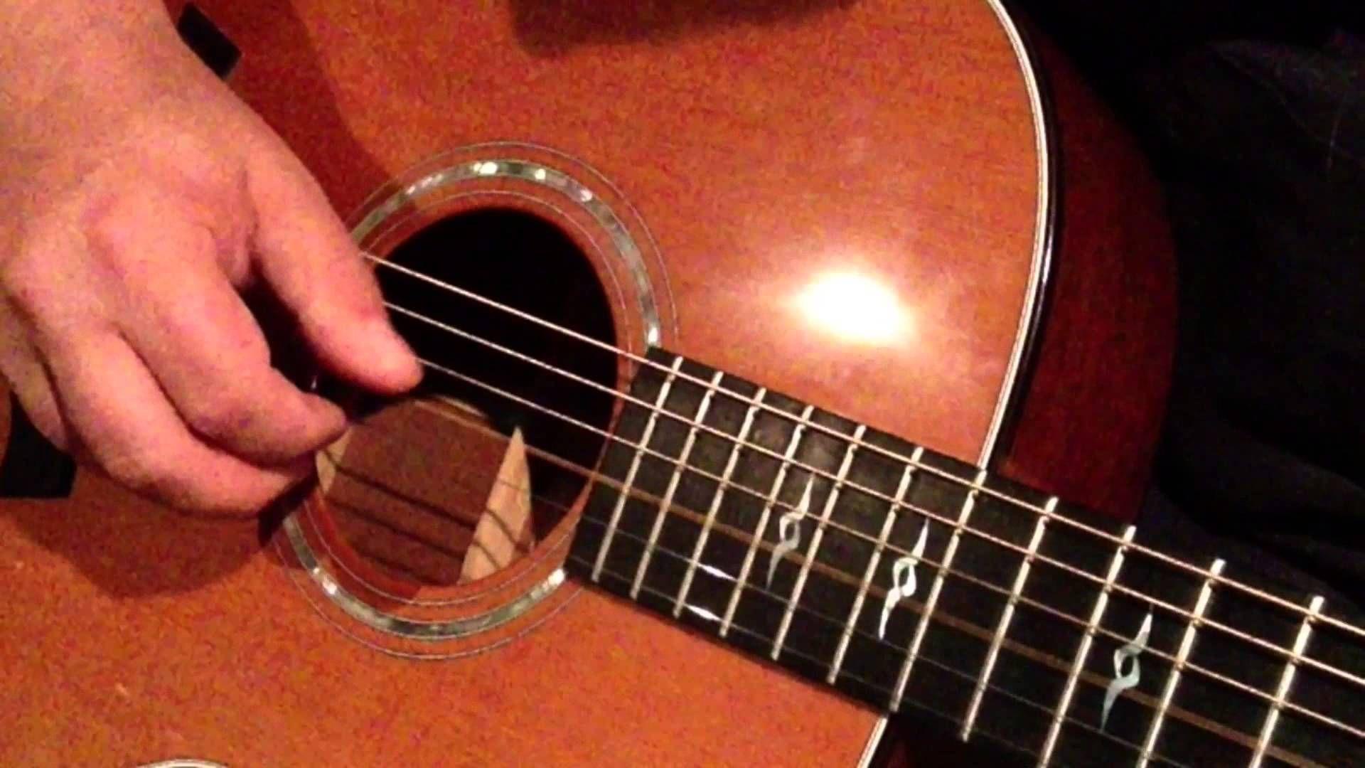easy beginner fingerstyle guitar lesson basic finger picking guitar less acoustic guitar. Black Bedroom Furniture Sets. Home Design Ideas