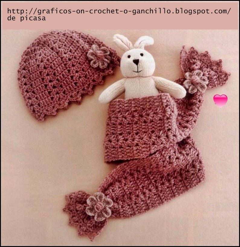 Crochet ganchillo patrones graficos gorrito y - Patrones de ganchillo ...