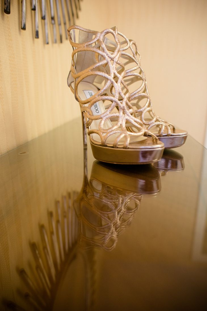 Gold Jimmy Choo Platform Heels | Jamie Fender Photography | Next Level Events | Jimmy Choo https://www.theknot.com/marketplace/jimmy-choo-new-york-ny-546574