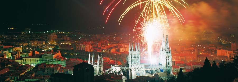 Burgos, Spain (and saw the fireworks)
