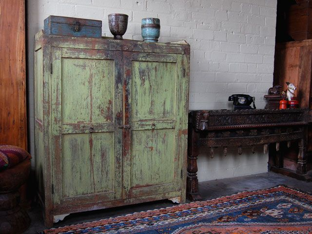 This vintage green cupboard from Scaramanga is sold unfortunately - This Vintage Green Cupboard From Scaramanga Is Sold Unfortunately