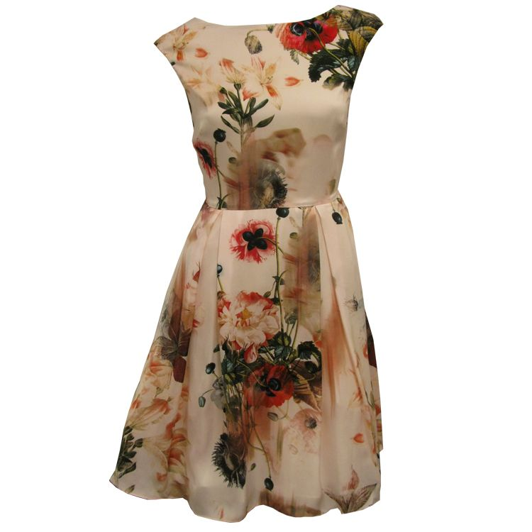 Ted Baker Rupin Opulent Bloom Print Dress Silk Dress Fashion Dresses Dress Style Names