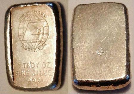 Silver Gold Bar Old Poured Engelhard Bar 1 Oz Silver Australia Silver Ingot Silver Bullion Silver Bars