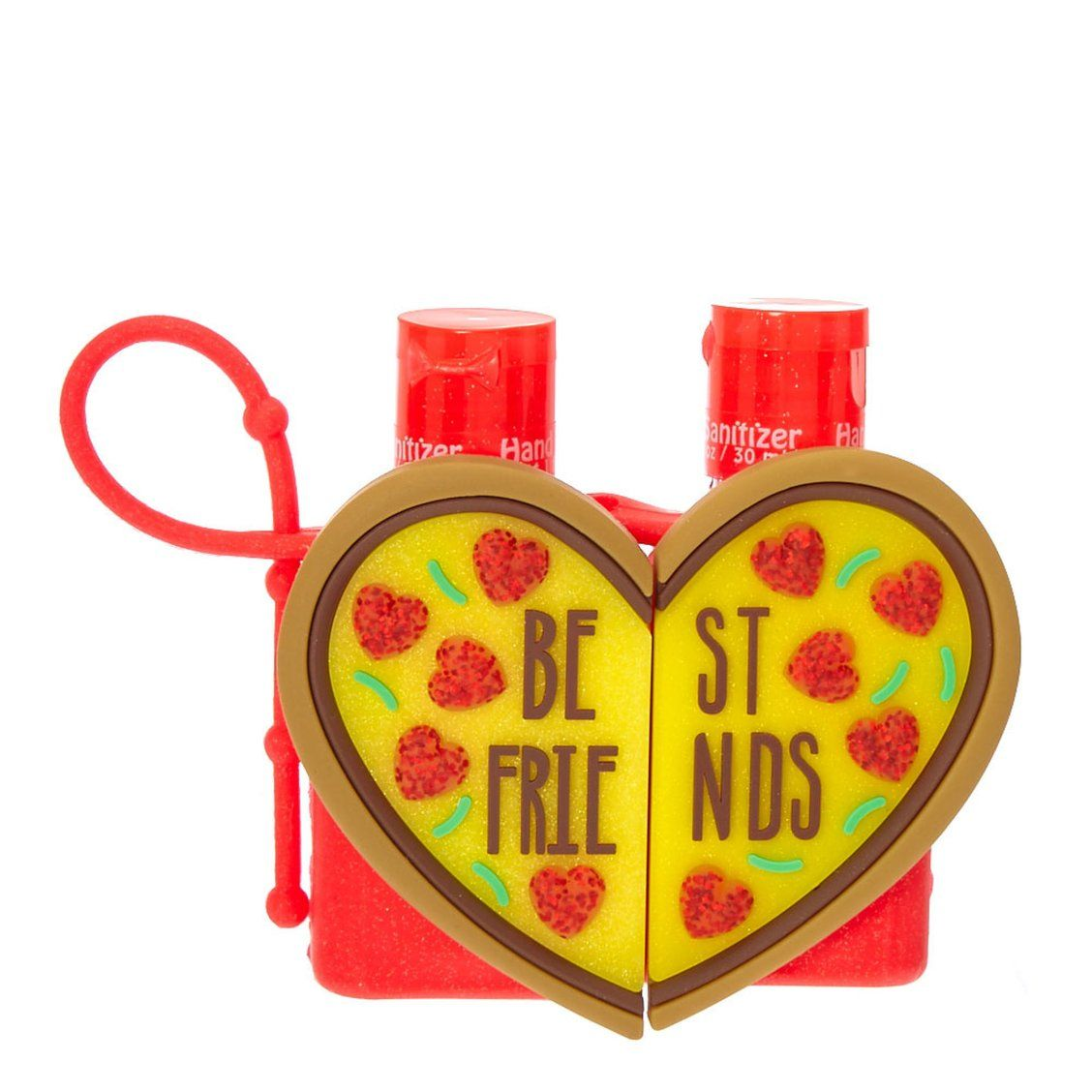 Best Friends Pizza Heart Holders With Anti Bacterial Hand