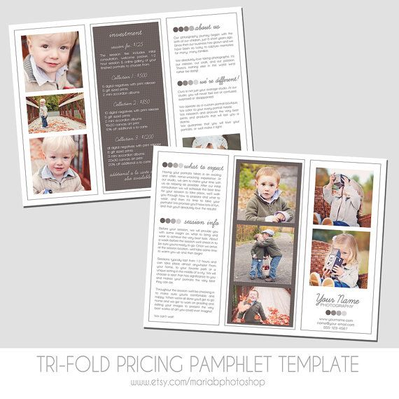 Sell Sheet - Collections or Packages Pricing Template - Trifold - sell sheet template