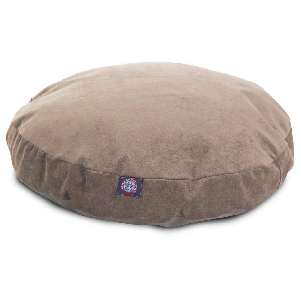 It features a removable zippered slipcover that is woven from 100% polyester micro velvet. Each bed is filled with super plush fiberfill. 30 x 30 Gray