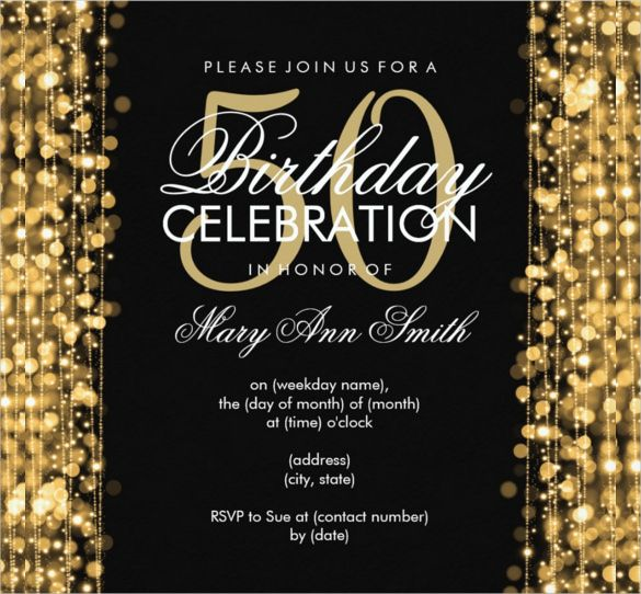 Image Result For 50th Blank Invitations Make At Home Party