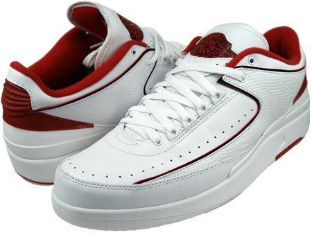 big sale ca0f1 55585 Air Jordan 2 (II) Retro Low White / Black - Varsity Red ...