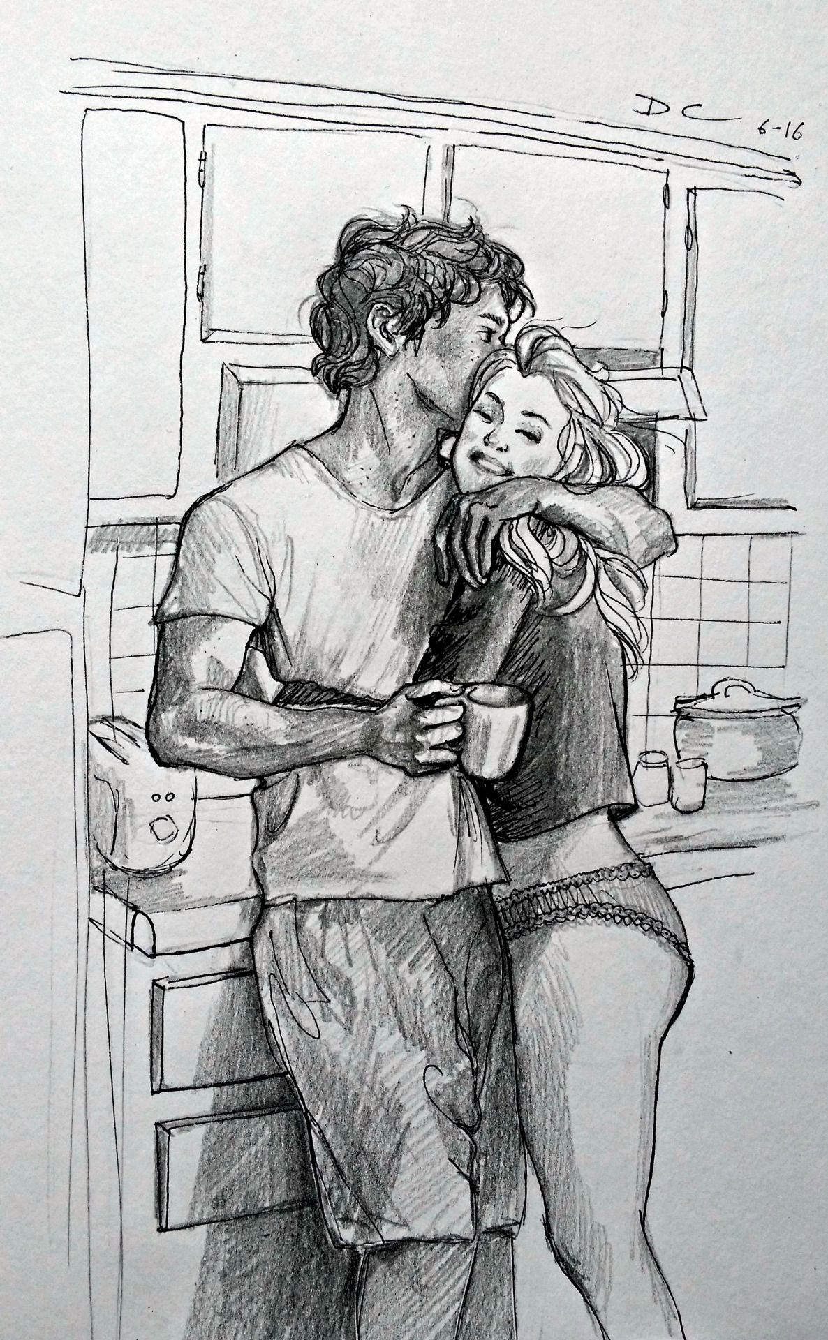 "an-established-butt-dent: "" ""Modern AU where Clarke isn't a morning person, but Bellamy learns to live with it (and makes her the best coffee). "" """