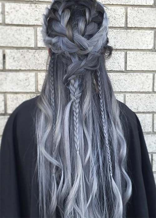 Nice gray hair color DIY with extensions from vpfashion~ #hair #hair ...