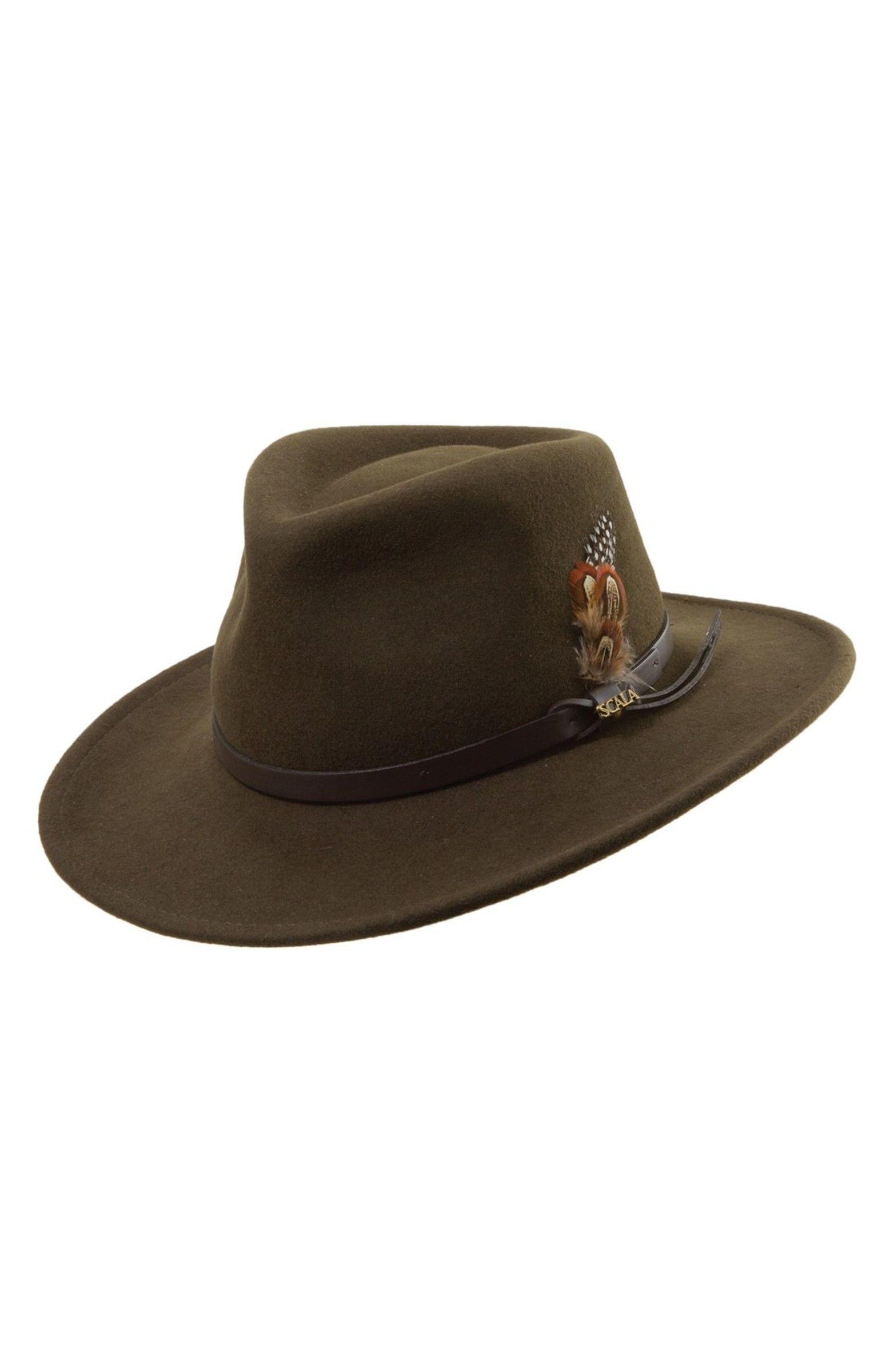 030503ca4b200 Main Image - Scala  Classico  Crushable Felt Outback Hat