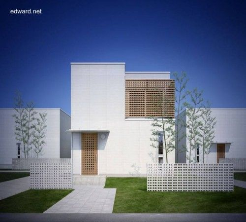 Prefab houses in japan residencia moderna minimalista - Fachadas edificios modernos ...