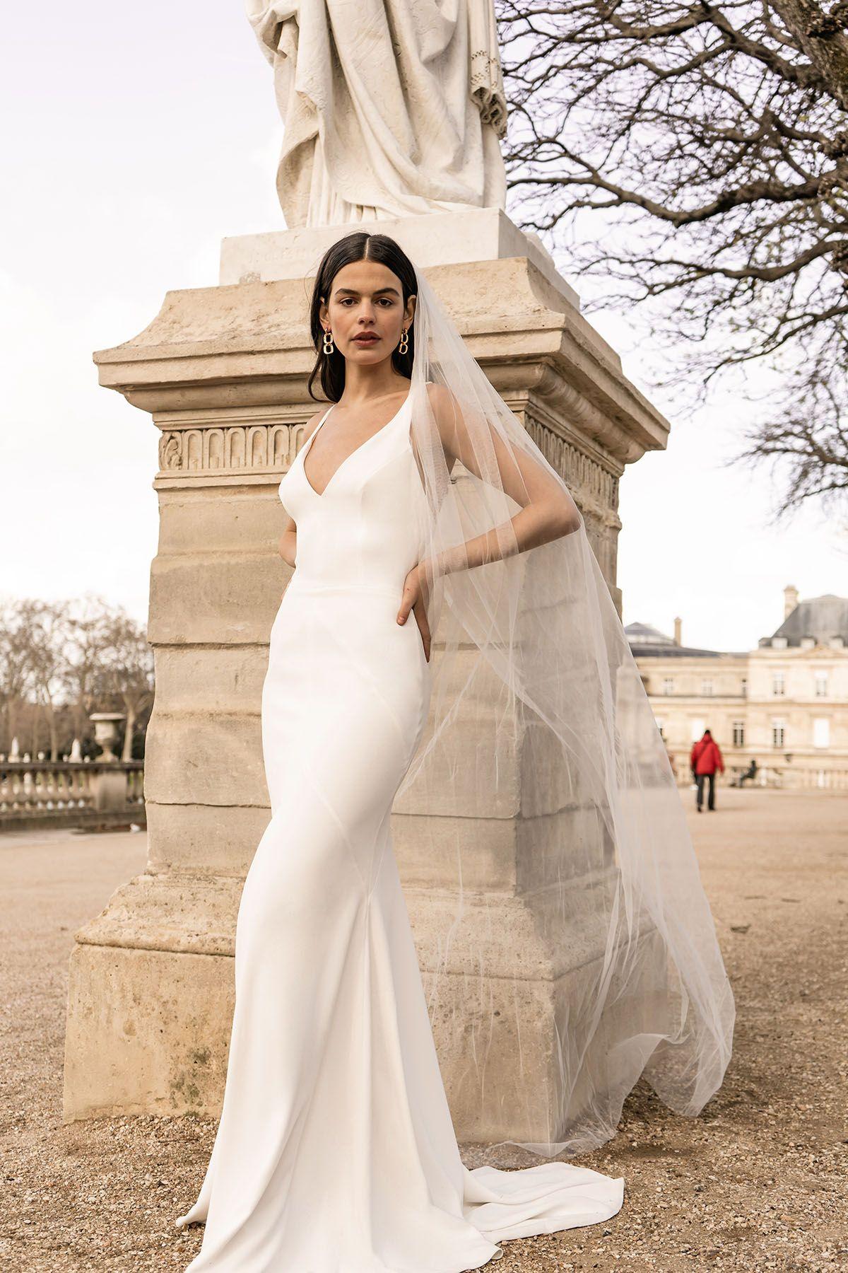 jardin du luxembourg shoot | australian wedding dresses