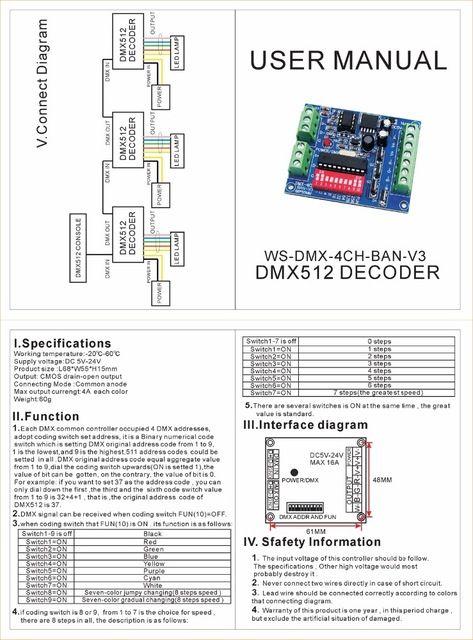 Wholesale Mokungit4ch 4 Channel Rgbw Easy Dmx512 Dmx Decoder Dimmer Controller Driver Dc5v 24v For Led Strip Light Led Strip Lighting Strip Lighting Led Strip