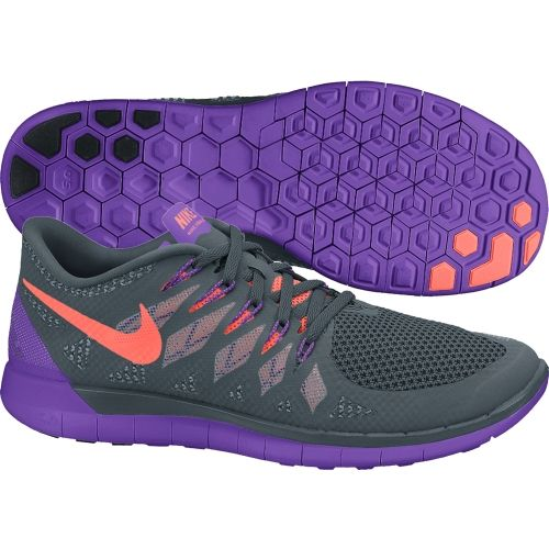 nike womens free 5.0 running shoes grey mango purple varieties