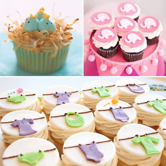 Cute Baby Shower Cupcakes - @Bronwyn Manley this lady has heaps of shower pins :)