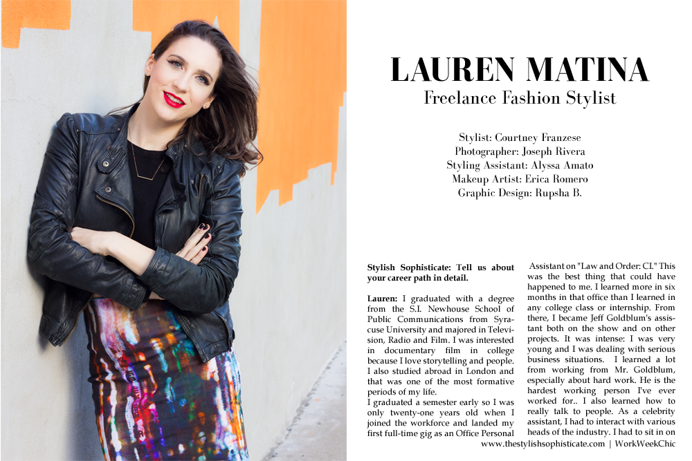 lauren matina nyc freelance fashion stylist - Freelance Stylist