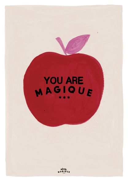 HOTEL MAGIQUE Apple art print. Shop online HOTELMAGIQUE.COM