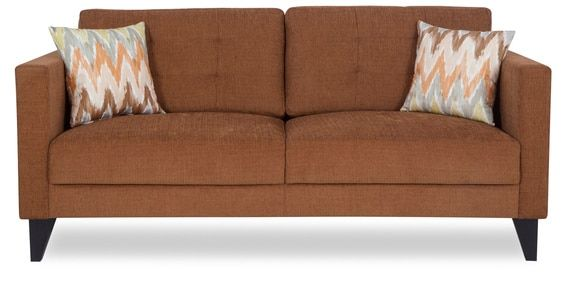 Greenwich Three Seater Sofa In Caramel Brown Colour By Urban Living Three Seater Sofa Urban Living Sofa Furniture