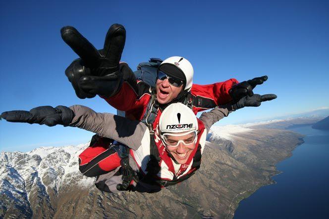Tandem Skydive 12 000ft Nzone New Zealand Adventure Queenstown New Zealand Queenstown Activities