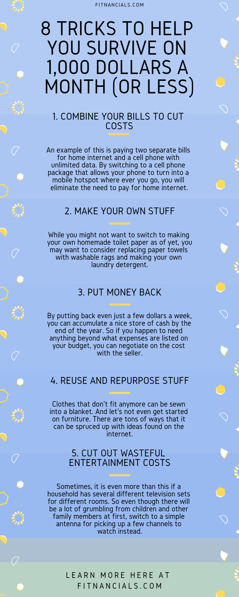8 Tricks To Help You Survive On 1 000 Dollars A Month Or Less Money Saving Tips Budgeting Budgeting Finances