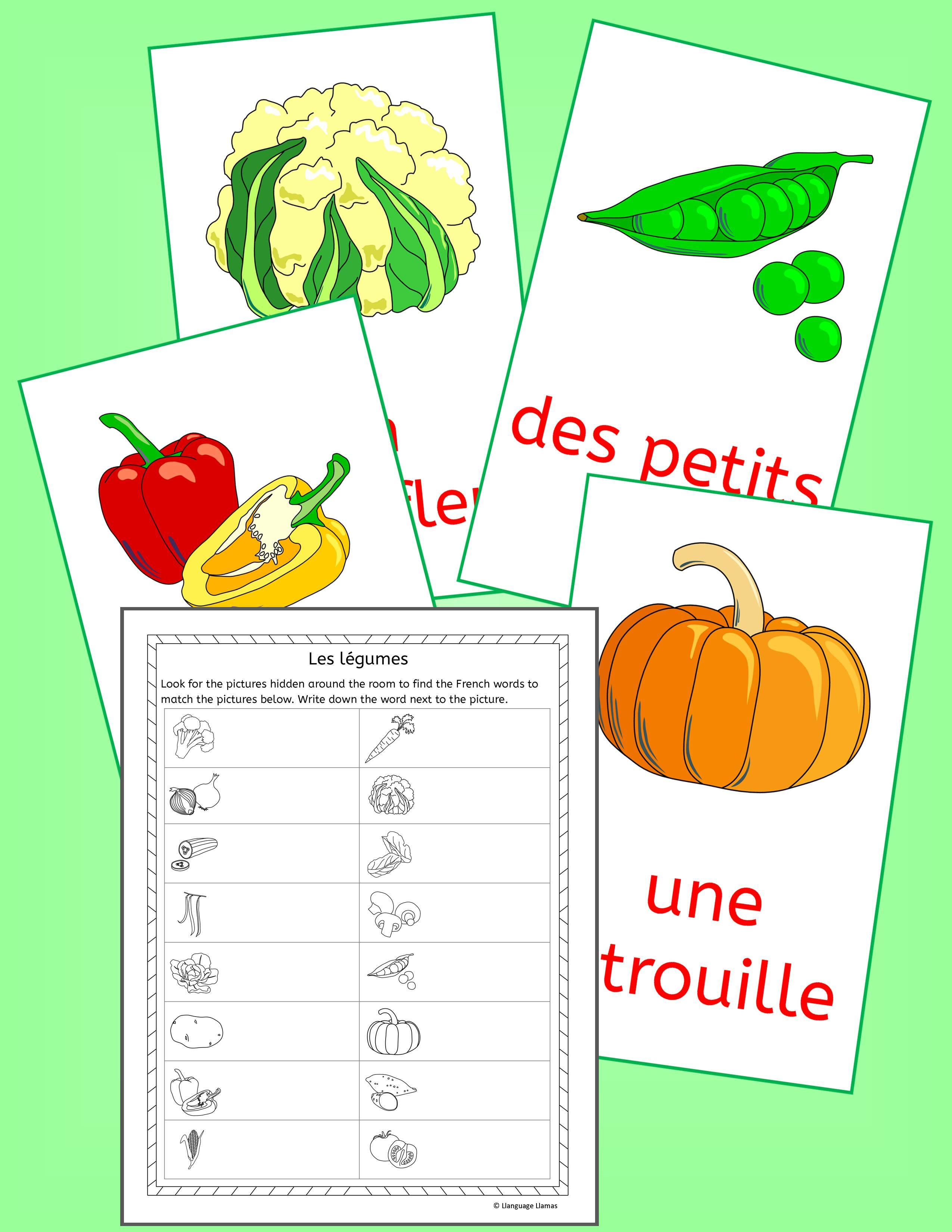 French Vegetables Vocabulary