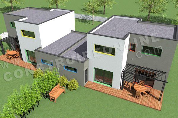 Maison jumel plan recherche google r sidence maisons - Plan de maison mitoyenne ...