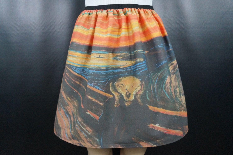 The Scream skirt - Edvard Munch - made to order by NerdAlertCreations on Etsy https://www.etsy.com/listing/160845518/the-scream-skirt-edvard-munch-made-to