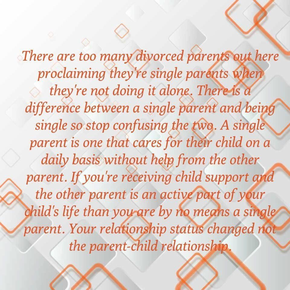a single parent cares for children alone. no help. no child support