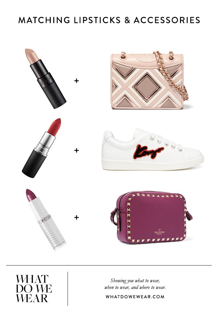 Matching Lipsticks & Accessories | Lipsticks, Shoes, Bags | Colour Co-Ordinate | Outfit Inspiration | Daily Outfits | What Do We Wear