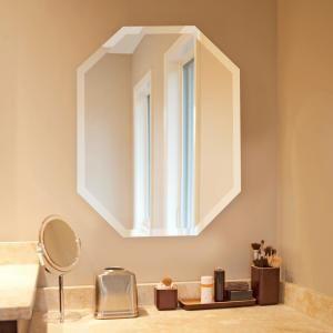 Photo of Howard Elliott 28 inch x 22 inch octagonal frameless mirror 36001 – The Home Depot