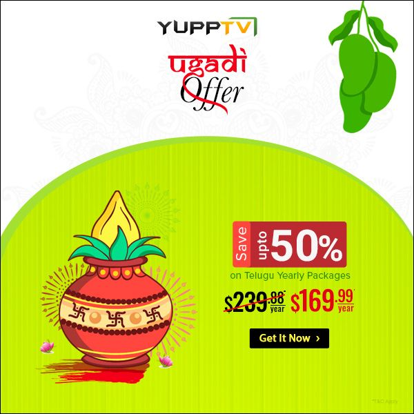 Don't miss out on our UGADI exclusive offer  Watch Telugu TV